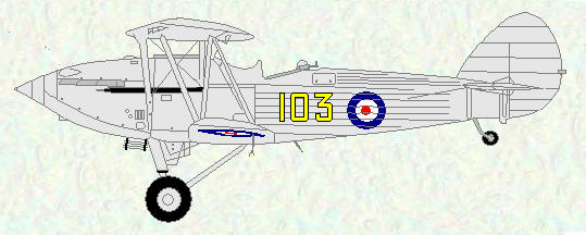 Hawker Hind of No 103 Squadron