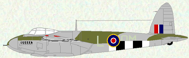 Mosquito VI of No 107 Squadron (coded OM)