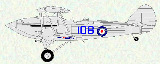 Hawker Hind of No 108 Squadron