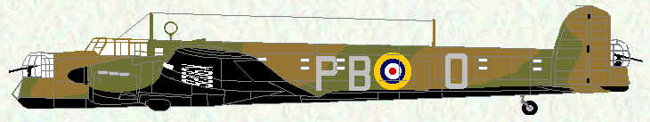 Whitley IV of No 10 Squadron (PB code letters)