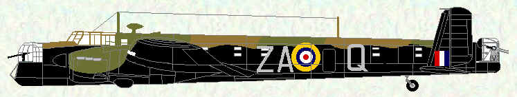 Whitley V of No 10 Squadron (ZA code letters)