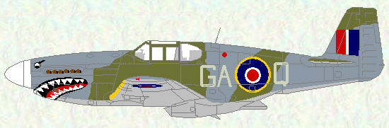 Mustang III of No 112 Squadron