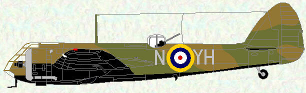 Bristol Blenheim of No 11 Squadron