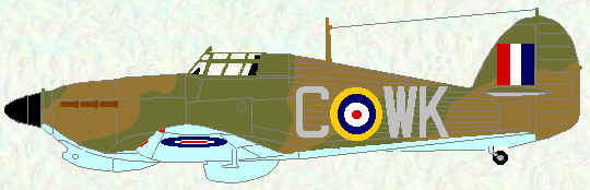 Hurricane IIb of No 135 Squadron (February 1942)