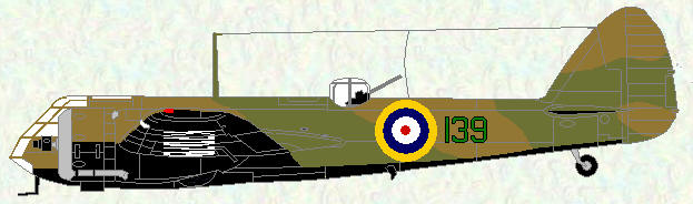Blenheim I of No 139 Squadron (pre war markings)