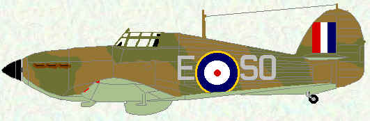 Hurricane I of No 145 Squadron (1940)