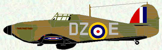 Hurricane I of No 151 Squadron (1940 coded DZ)