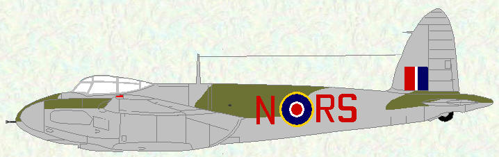 Mosquito II of No 157 Squadron (revised night fighter scheme)