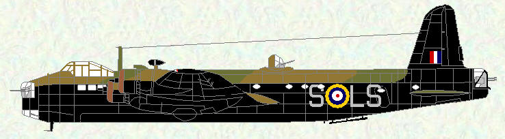 Stirling I of No 15 Squadron (grey codes)
