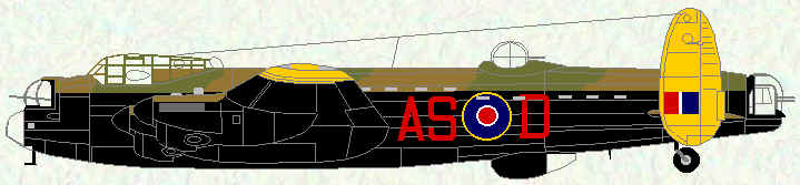 Lancaster III of No 166 Squadron (G-H Leader - 1944/1945)