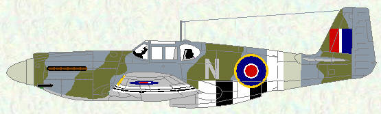 Mustang I of No 168 Squadron (D-Day markings)