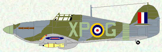 Hurricane IIB of No 174 Squadron (May 1942)