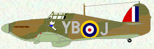 Hurricane I of No 17 Squadron (Coded YB - 1940)