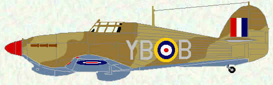 Hurricane IIb of No 17 Squadron (January 1942)