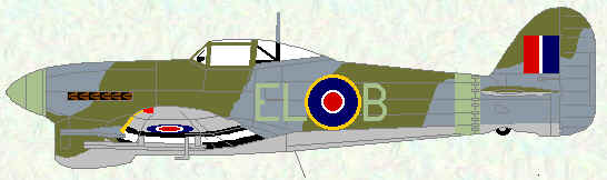 Typhoon IB of No 181 Squadron (April 1944)