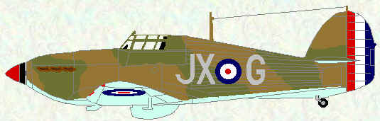 Hurricane I of No 1 Squadron (France - May 1940, coded JX)