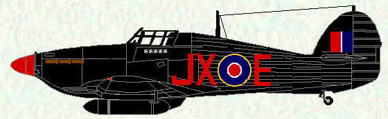 Hurricane IIC of No 1 Squadron (All Black scheme - May 1942)