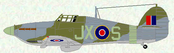 Hurricane IIC of No 1 Squadron (Day Fighter scheme - September 1942)