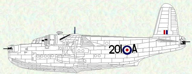 Sunderland V of No 201 Squadron (post-war markings)