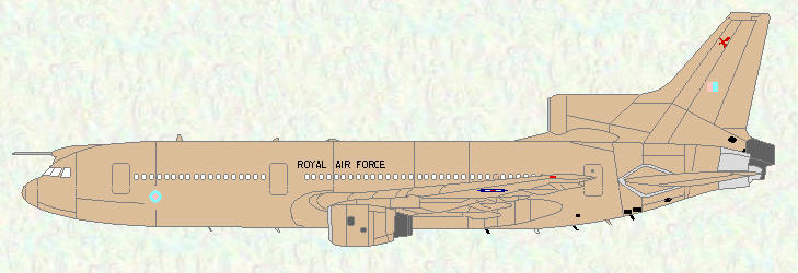 Tristar KC Mk 1 of No 216 Squadron (Gulf War - 1991 markings)