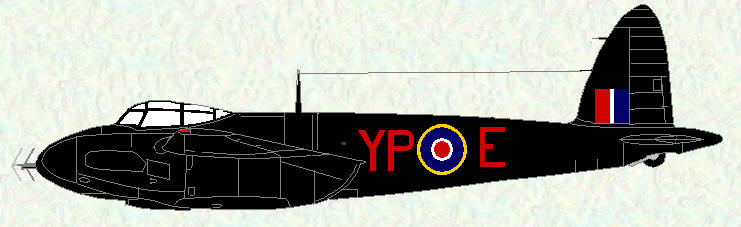 Mosquito II of No 23 Squadron (original all black scheme)