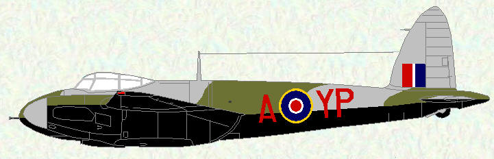 Mosquito II of No 23 Squadron (revised night fighter scheme)