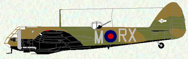 Brsitol Blenheim IF of No 25 Squadron (coded RX)