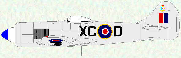 Tempest II of No 26 SQuadron (Post-war day fighter scheme - 1946)