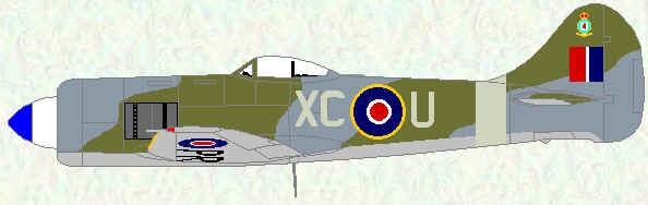 Tempest II of No 26 Squadron (wartime day fighter scheme - 1947)