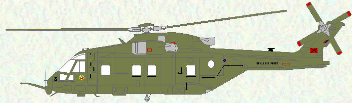 Merlin HC Mk 3 of No 28 Squadron