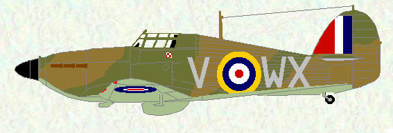 Hurricane I of No 302 Squadron