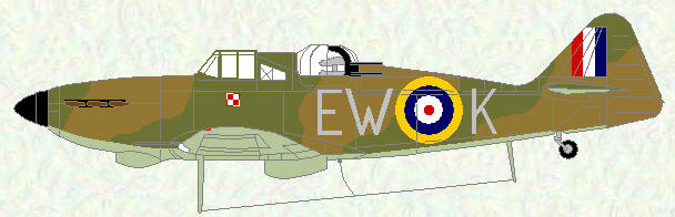 Defiant I of No 307 Squadron (day fighter scheme)