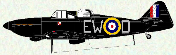 Defiant I of No 307 Squadron (night fighter scheme)