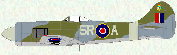 Tempest II of No 33 Squadron (1947)