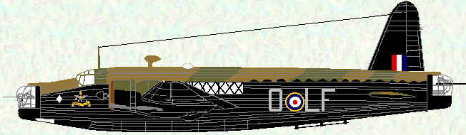 Wellington IC of No 37 Squadron (UK Camouflage)