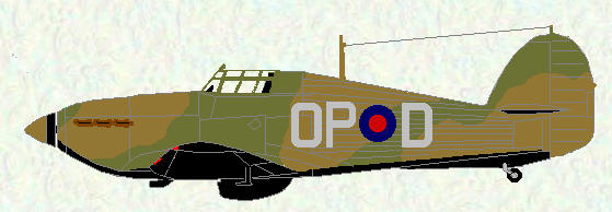 Hurricane I of No 3 Squadron (Coded OP)