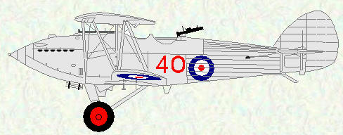 Hawker Hart (Special) of No 40 Squadron