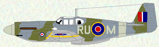 Mustang I of No 414 SQuadron (coded RU)
