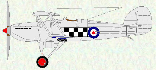 Fury I of No 43 Squadron (original colour scheme)