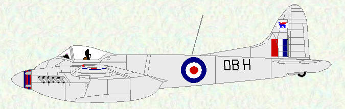 Hornet F M 3 of No 45 Squadron (All-silver finish)