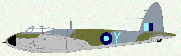 Mosquito VI of No 45 Squadron (day fighter scheme)