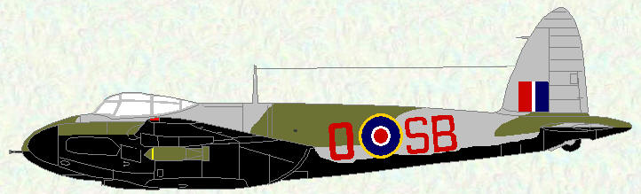 Mosquito VI of No 464 Squadron (night intruder scheme)