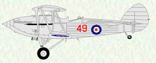 Hawker Hind of No 49 Squadron