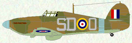 Hurricane I of No 501 Squadron (December 1940)