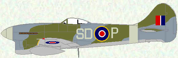 Tempest V of no 501 Squadron (October 1944)