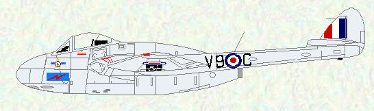 Vampire FB Mk 5 of No 502 Squadron