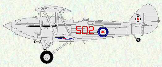 Hawker Hind of No 502 Squadron