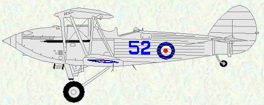 Hawker hind of No 52 Squadron