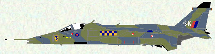 Jaguar GR Mk 1 of No 54 Squadron (Grey/Green scheme)
