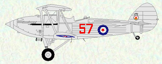 Hawker Hind of No 57 Squadron